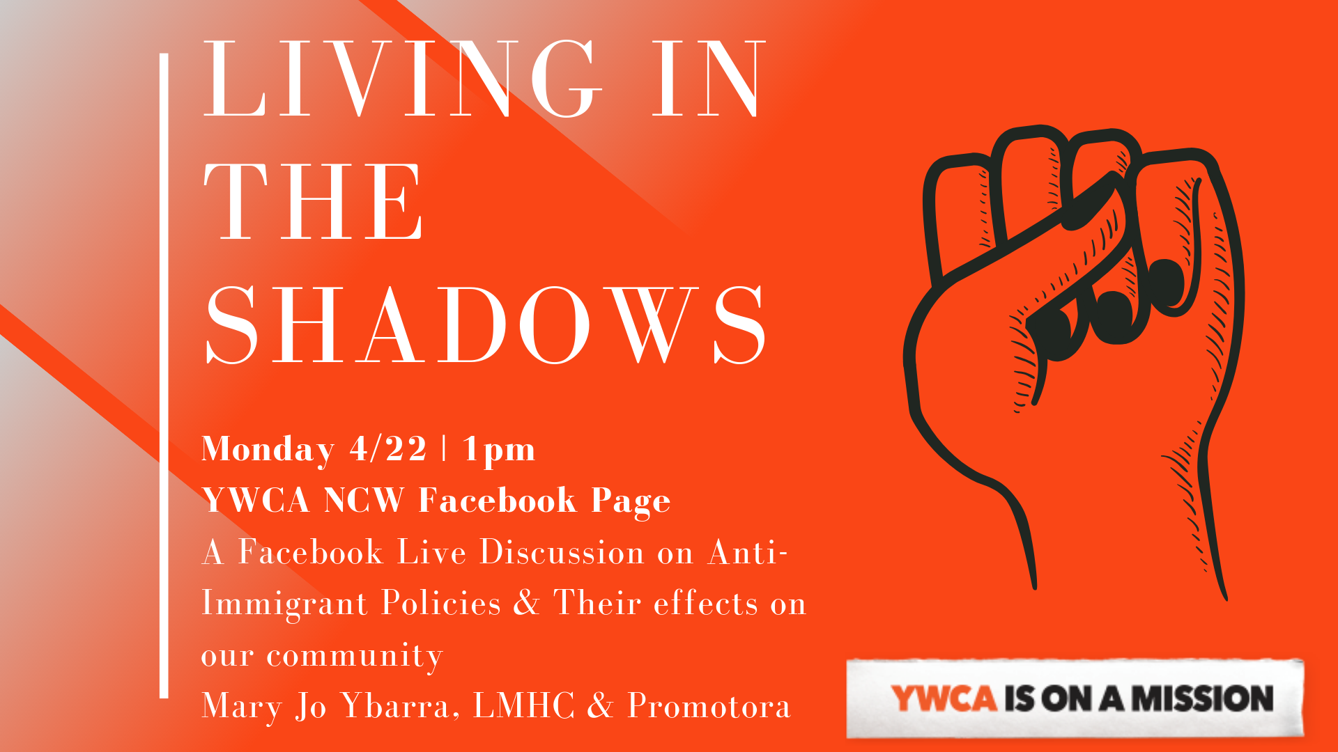 Facebook Live Discussion: Living in the Shadows @ YWCA NCW